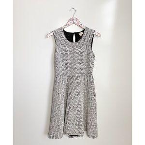 MERONA Black & White Cross Hatch Sleeveless Dress